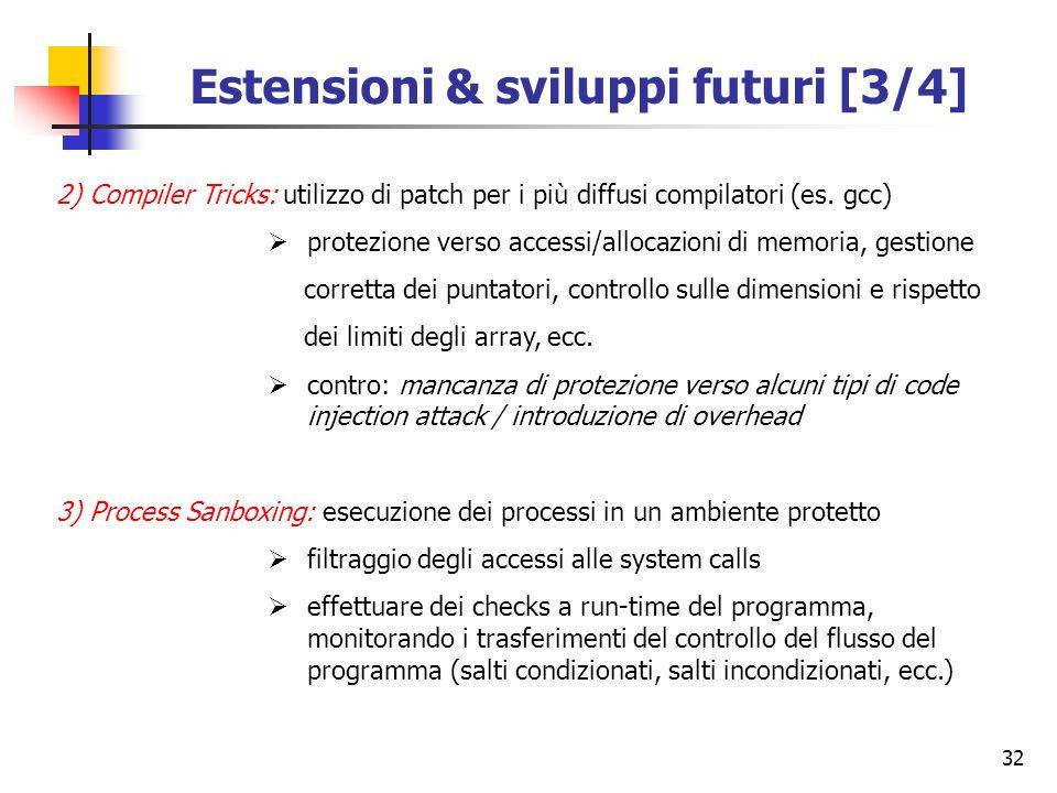 Estensioni & sviluppi futuri [3/4]